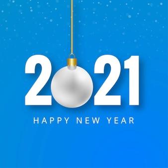 Frohes neues 2021 jahre kreativer hintergrund