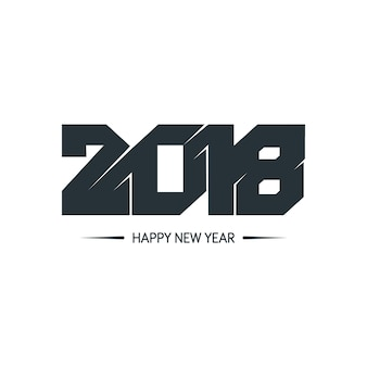 Frohes neues jahr 2018 bunten design