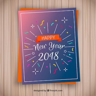 Frohes neues jahr 2018 grußkarte