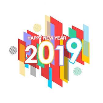 Frohes neues jahr 2019 banner und text