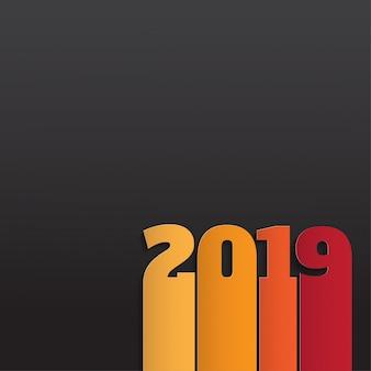 Frohes neues jahr 2019. grußkarte.