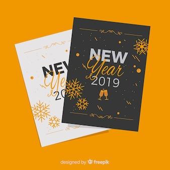 Frohes neues jahr 2019 grußkarten