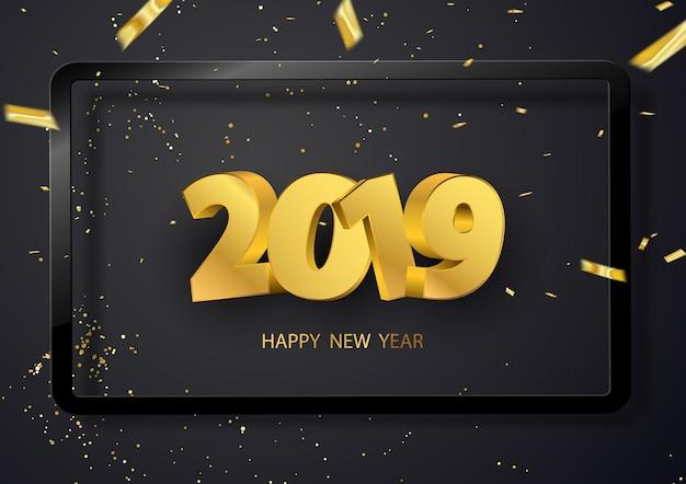 Frohes neues jahr 2019 hintergrund.