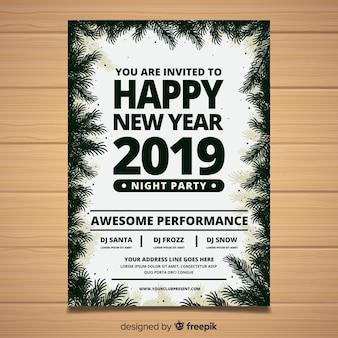 Frohes neues jahr 2019 poster