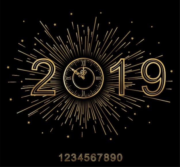Frohes neues jahr 2019.