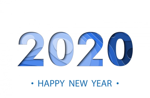Frohes neues jahr 2020 backgroun