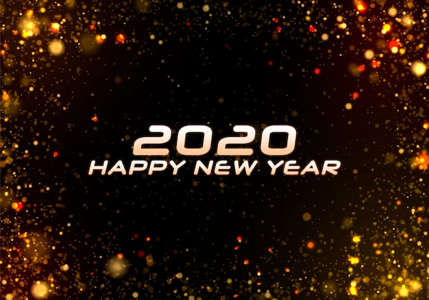 Frohes neues jahr 2020. bokeh funkeln weihnachten.
