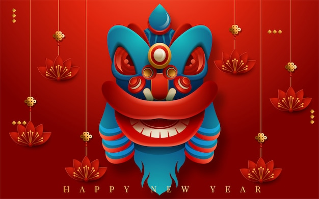 Frohes neues jahr 2020. chinesisches neujahr. das jahr der ratte. übersetzung: frohes neues jahr. vektor-illustration