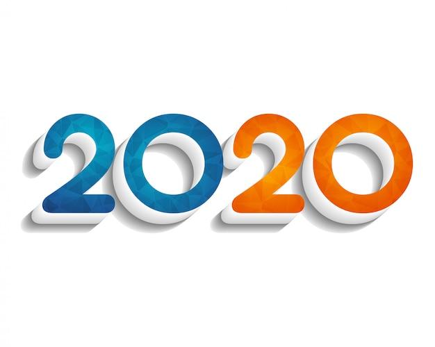 Frohes neues jahr 2020. grußkarte. abstrakt . .