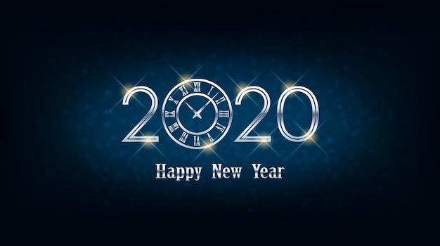 Frohes neues jahr 2020 grußkarte