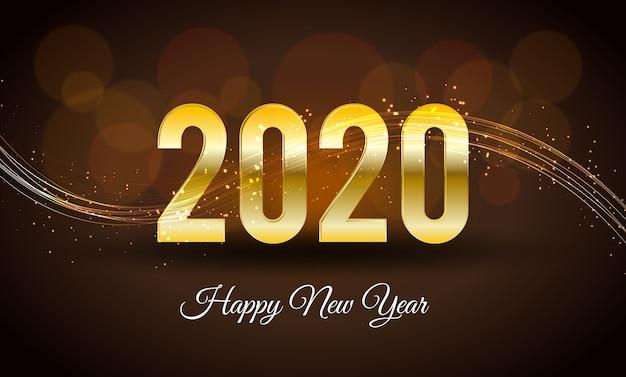 Frohes neues jahr 2020 hintergrund