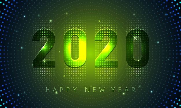 Frohes neues jahr 2020 leichte moderne banner