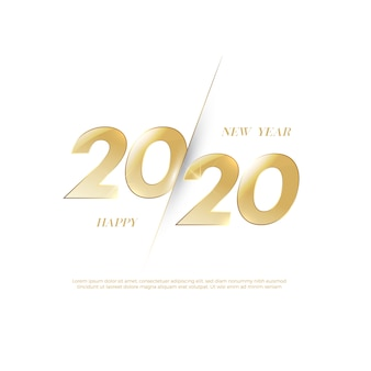 Frohes neues jahr 2020 logo text