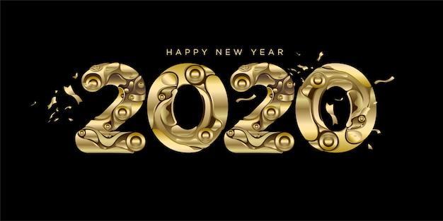 Frohes neues jahr 2020 - new year black