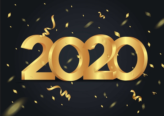 Frohes neues jahr 2020 shining