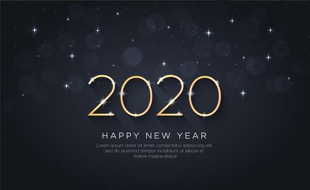 Frohes neues jahr 2020. urlaub