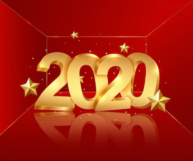 Frohes neues jahr 2020.