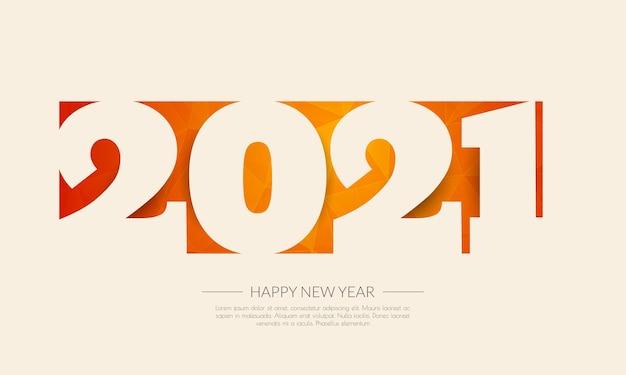Frohes neues jahr 2021. abstrakter hintergrund.
