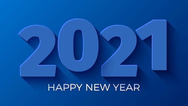 Frohes neues jahr 2021 blauer hintergrund.
