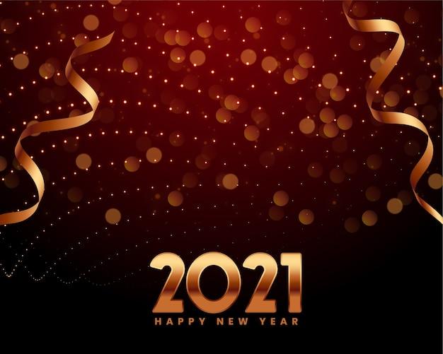 Frohes neues jahr 2021 grußkarte mit 2021 funkelnden zahlen
