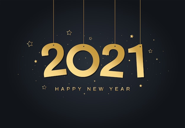 Frohes neues jahr 2021 grußkarte