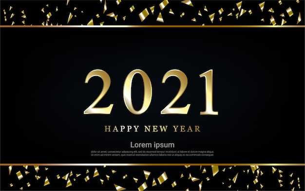 Frohes neues jahr 2021 mit band