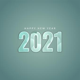 Frohes neues jahr 2021 moderner stilvoller hintergrund