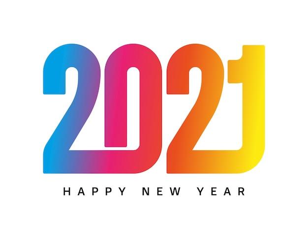 Frohes neues jahr 2021 typografie design