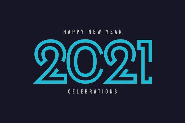Frohes neues jahr 2021 vektorschablone.