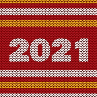 Frohes neues jahr 2021 weihnachten rote farbe Premium Vektoren