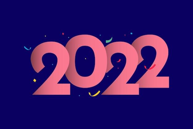 Frohes neues jahr 2022 banner-vorlage