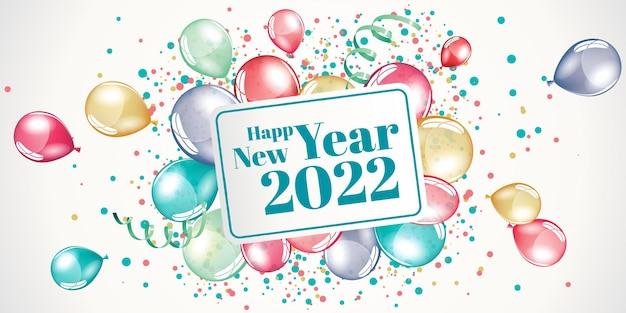 Frohes neues jahr 2022 große grußkartenillustration