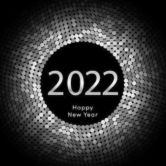 Frohes neues jahr 2022 kreis hintergrund festliche disco-vorlage