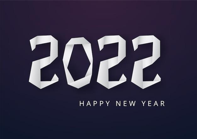 Frohes neues jahr 2022 mit designvorlage für geometrisches polygonales konzept