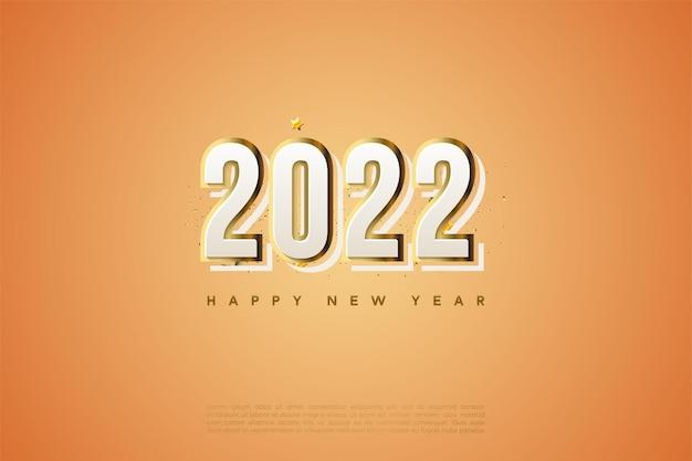 Frohes neues jahr 2022 mit moderner designnummer