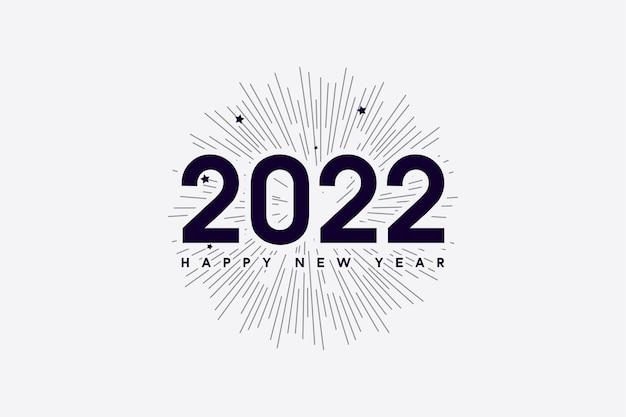 Frohes neues jahr 2022 mit zahlen und linien