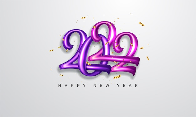 Frohes neues jahr 2022 poster vektor