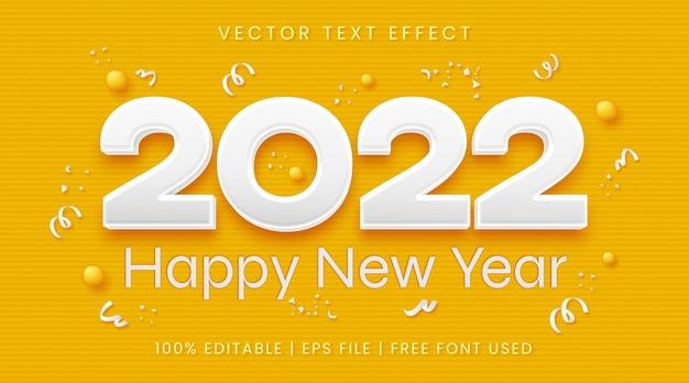 Frohes neues jahr 2022 text fetter bearbeitbarer texteffektstil