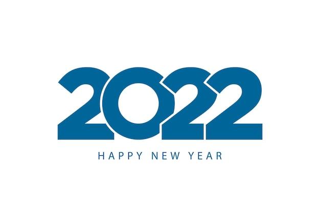 Frohes neues jahr 2022 vorlage moderne business-stil blaue farbe
