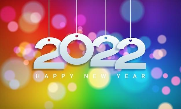 Frohes neues jahr 2022 winterurlaub grußkarten-design-vorlage