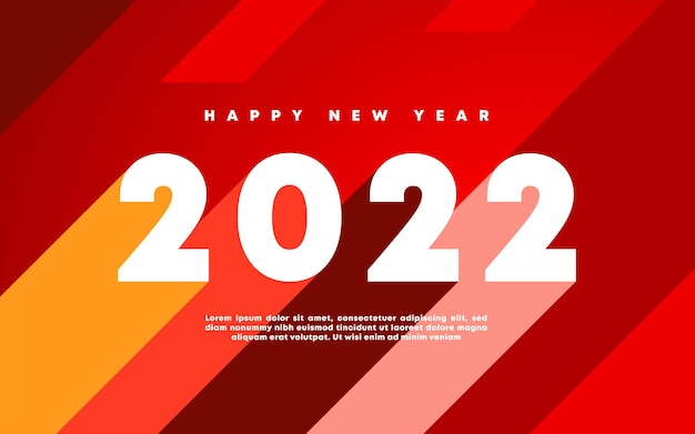 Frohes neues jahr 2022 winterurlaub grußkartenvorlage partyplakat social web banner design