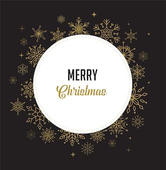 Frohes neues jahr, frohe weihnachten hintergrund mit sauberem modernen design von geometrischen schneeflocken