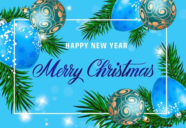 Frohes neues jahr frohe weihnachten schriftzug