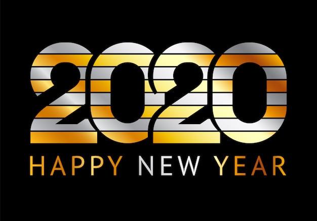Frohes neues jahr grußkarte 2020