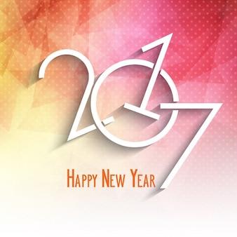 Frohes Neues Jahr Hintergrund mit einem Low-Poly-Design