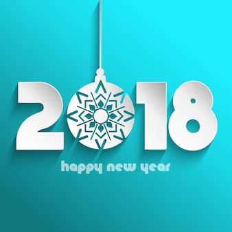 Frohes neues Jahr Hintergrund mit hängenden Spielerei