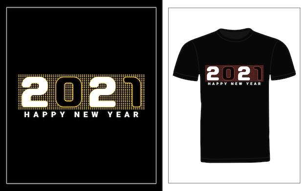 Frohes neues jahr typografie t-shirt design