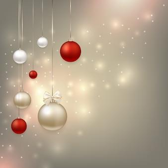 Frohes neues jahr und weihnachtshintergrund