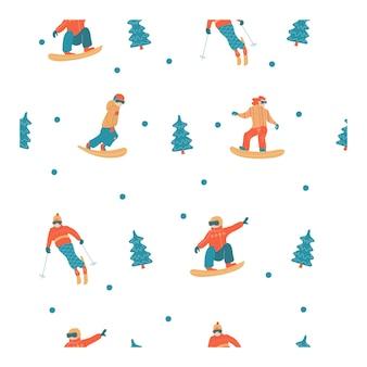 Frohes neues jahr. wintersport und unterhaltung.