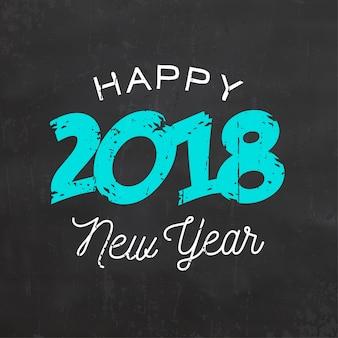 Frohes neues jahr-zeichen 2018
